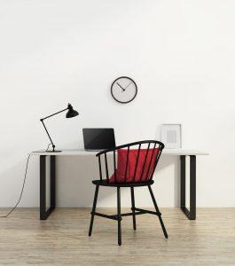 Die richtige Farbe für das Arbeitszimmer wählen.