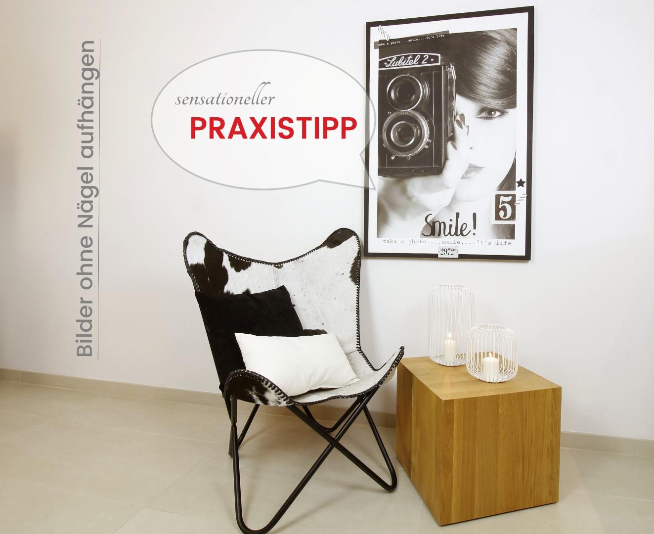 geniale idee bilder ohne n gel aufh ngen mittels klebestreifen mit klett. Black Bedroom Furniture Sets. Home Design Ideas