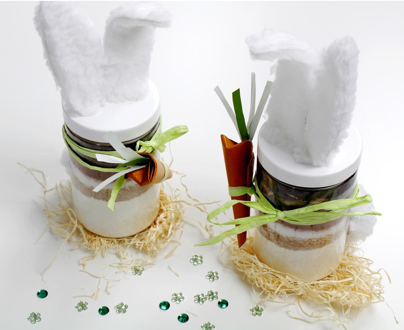 leckere kuchenbackmischung im glas f r ein tolles ostergeschenk. Black Bedroom Furniture Sets. Home Design Ideas