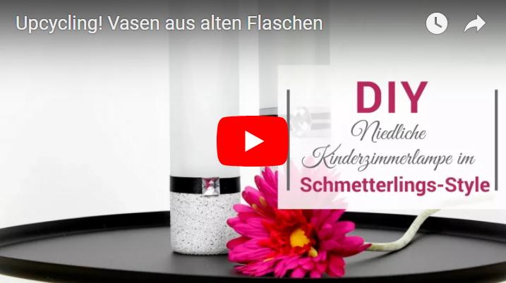 diy upcycling wundersch ne vasen aus alten flaschen. Black Bedroom Furniture Sets. Home Design Ideas