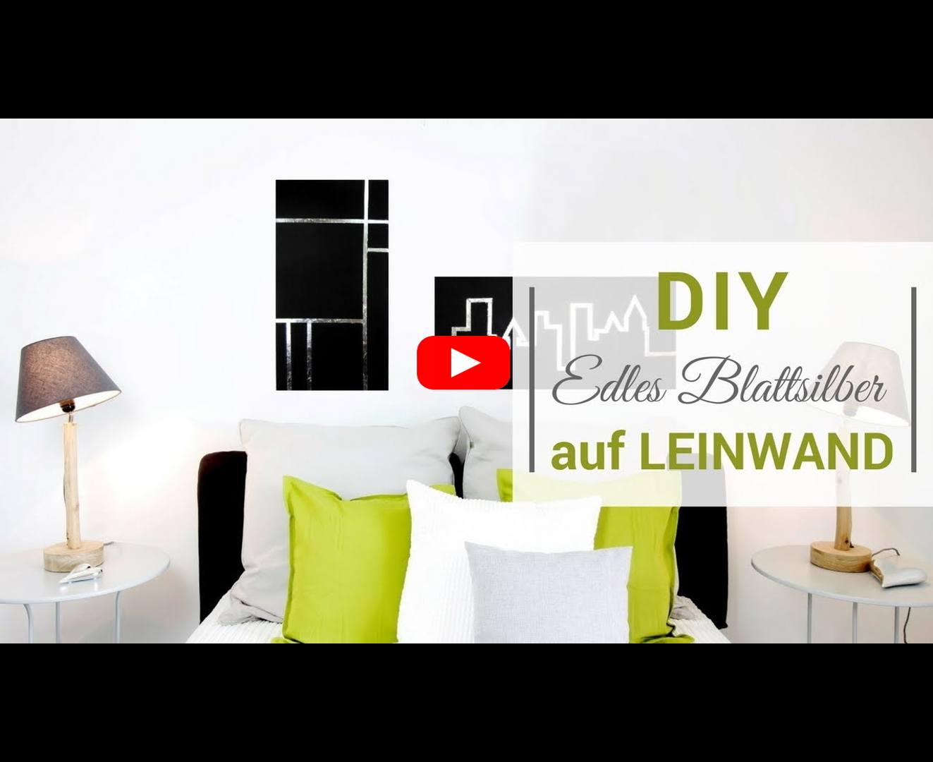 diy video edles blattsilber auf leinwand. Black Bedroom Furniture Sets. Home Design Ideas