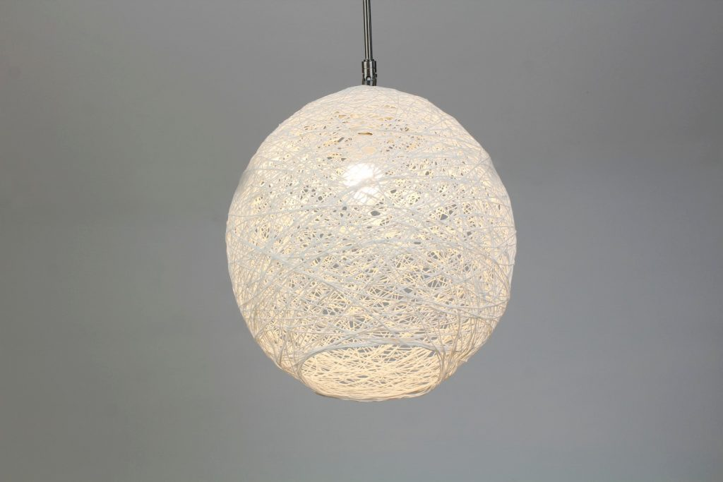 Lampe wickeln aus Wolle