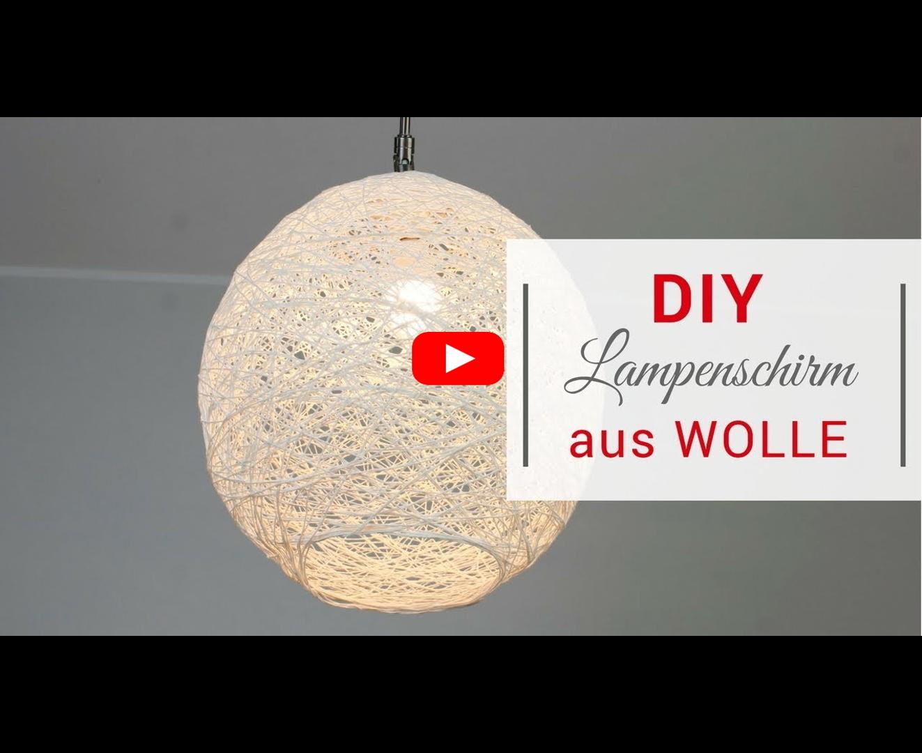 diy lampenschirm aus wolle super einfach und g nstig. Black Bedroom Furniture Sets. Home Design Ideas