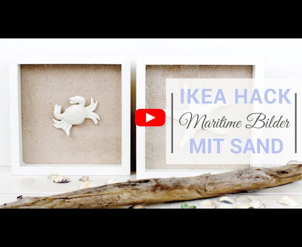 ikea hack maritime bilder mit sand mit dem ribba bilderrahmen. Black Bedroom Furniture Sets. Home Design Ideas