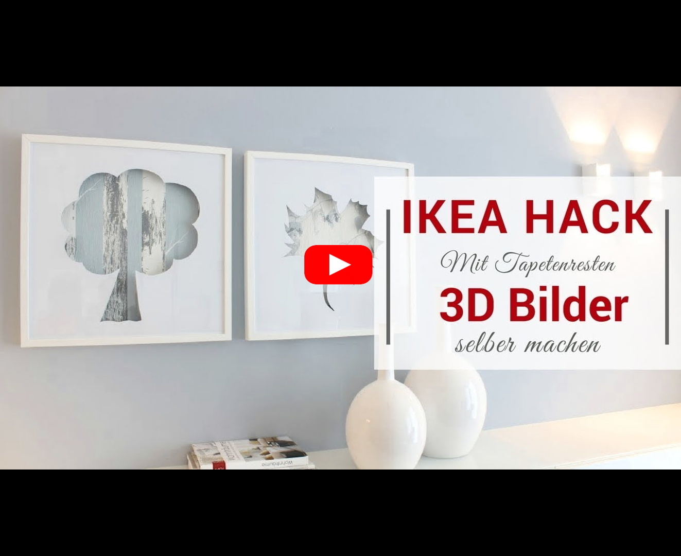 ikea hack 3d bilder mit tapetenresten im ribba bilderrahmen. Black Bedroom Furniture Sets. Home Design Ideas