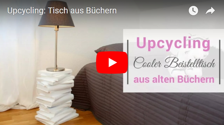 upcycling beistelltische aus alten b chern selber machen. Black Bedroom Furniture Sets. Home Design Ideas