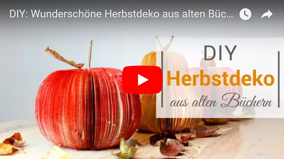 diy wundersch ne herbstdeko aus alten b chern zaubern. Black Bedroom Furniture Sets. Home Design Ideas