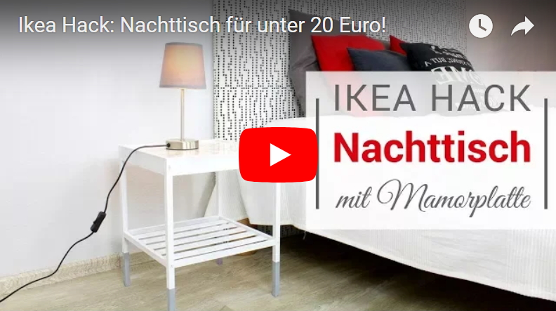 ikea hack nachttisch f r unter 20 euro selber machen. Black Bedroom Furniture Sets. Home Design Ideas