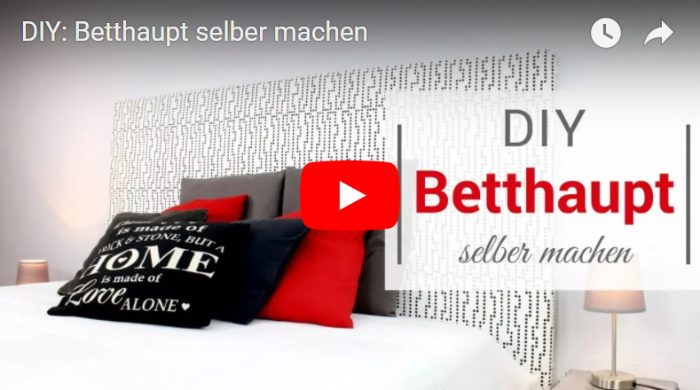 diy betthaupt einfach und g nstig selber machen. Black Bedroom Furniture Sets. Home Design Ideas