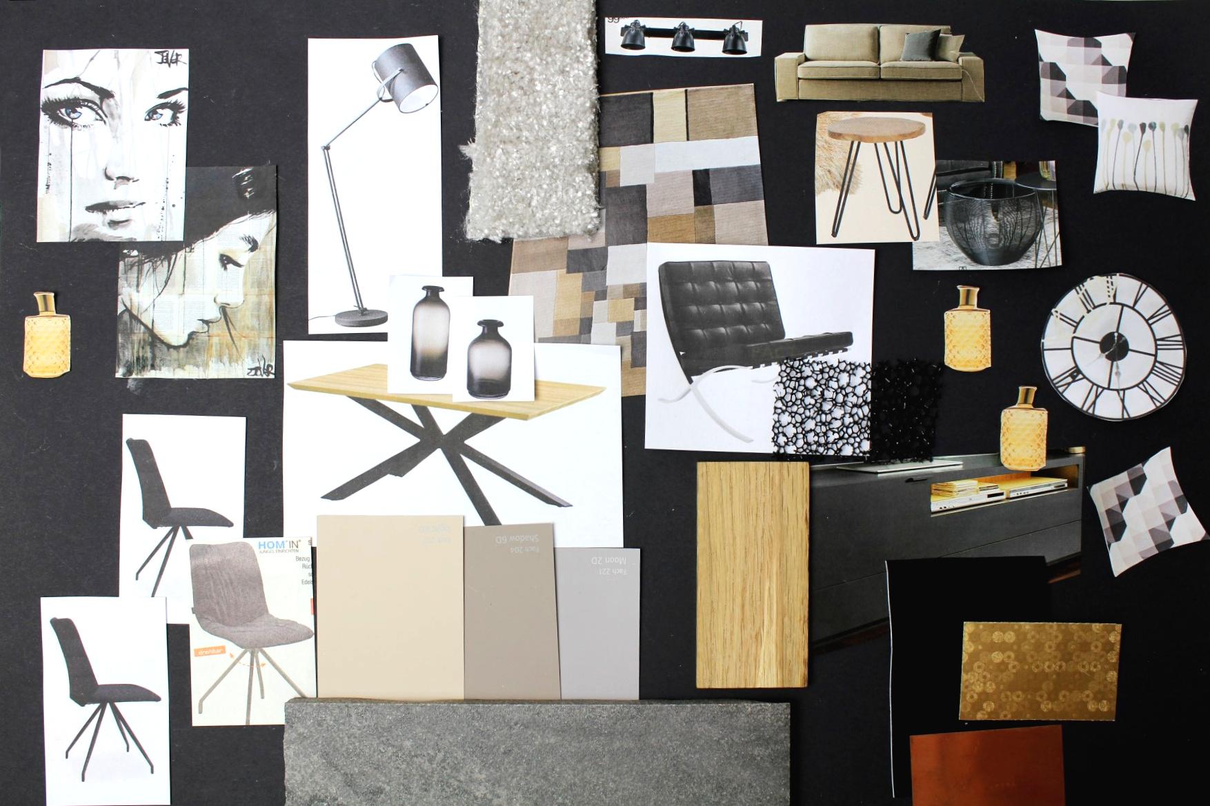moodboard wohnraum einrichten mit inspirationstafel. Black Bedroom Furniture Sets. Home Design Ideas